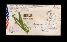 WWII Patriotic APO 885 India P-38 Lightning Berlin 1944 Cover & Inserts 1r