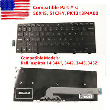 New Genuine Dell Inspiron 14 3000 3441 3442 3443 3452 Laptop Keyboard 50X15 US