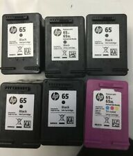 Empty HP 65 Ink Cartridges Lot Of Six.