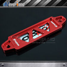 Red 14cm Billet Aluminum Battery Tie Down Bar Bracket Stand Mounted Universal