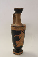 Ancient Greek Black Figure Restored Pottery Lekythos ca. 490 BC - Antiques