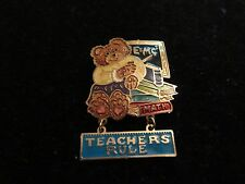 Statement Pin Brooch Math Teacher Rule Literature E+MC2 Teddy Bear School CUTE