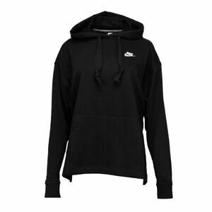 Nike Womens CLUB FT PO HOODIE Black XS M