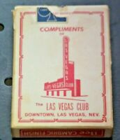 THE LAS VEGAS CLUB vintage playing cards VERY RARE! Bee No 92 Club Special 1960s