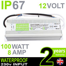 IP67 12V Dc 100w 8A 230v Imperméable Alimentation Pour LED Conducteur Bande CCTV