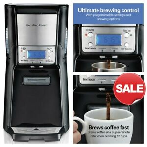 Hamilton Beach 12 Cup Programmable Coffee Maker Brewstation Summit Dispensing