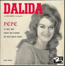 DALIDA RARISSIME PRESSAGE ESPANOL PEPE 45T EP 1961 SPAIN 45T EP BCGE 28.286