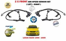 FOR LEXUS IS200 2.0 1999-05 NEW 2X FRONT LEFT + RIGHT ABS ANTI LOCK SPEED SENSOR