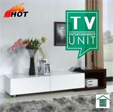 Modern Extendable TV Entertainment Unit White/Walnut