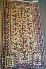 Antique Hand Knotted Authentic Baluchi Caucasian Prayers Rug