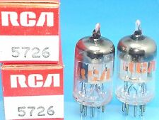 RCA  6AL5 W 5726 VACUUM TUBE NOS PERFECT MATCHED PAIR NIB MILITARY SPEC
