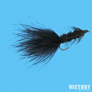 Woolly Bugger BLACK Streamer Premium Flies - One Dozen - Sizes Available***