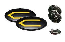 3D Concepto Emblem Badge BBY Set 7pc (Fit: KIA 2014-2016 Forte Sedan K3 Cerato)