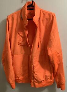 Nike Storm-Fit Running Jacket w/ Hoodie - Orange - Mens Medium - many pockets
