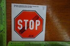 Alter Aufkleber Nicht rauchen STOP AOK