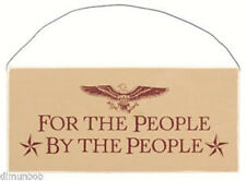 """For the People, By the People"" Rustic Decorative Wood Sign Free Shipping"