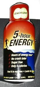 2007 Lemon Lime Five 5 Hour Energy Drink Shot Classic SEALED Monster Shooter OLD