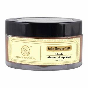 Khadi Herbal Almond & Apricot Massage Cream 50 gms Skin Face Body Natural Care