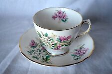 EUC Vintage Royal Vale Bone China Tea Cup and Saucer Pink & White Flowers