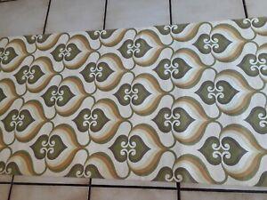 Tapete Retro - Style Tapete  70er Jahre Motiv ca 6,30m grün orange braun weiß