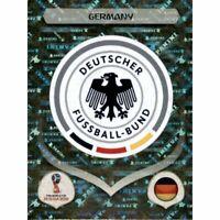 Panini WM 2018 432 Deutschland Germany World Cup 18Wappen Logo Glitzer Foil