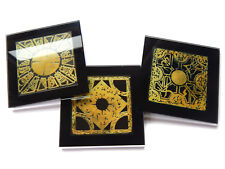HELLRAISER PUZZLE BOX Set of 3 Premium Glass Table Coasters with Gift Boxes