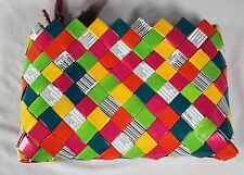 Nahui Ollin Wristlet Purse Rosy Cheeks Multi Color Candy Wrapper Bag New