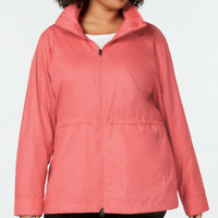 Columbia Coral Bloom Womens Sustina Springs Hooded Anorak Jacket Size 2X $110