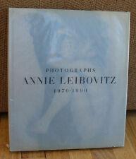 Annie Leibovitz Photographs 1970 1990 HC DJ John Lennon Yoko Ono Andy Warhol