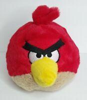 "Angry Birds Red Bird Plush 5"" Stuffed Animal Toy Figure Doll No Sound EUC"