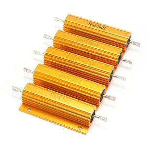 25/50/100W 0.1-5000 Ohm Watt Shell Power Aluminum Housed Case Wirewound Resistor