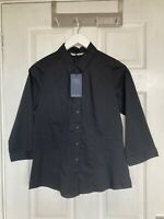 Brand New M&S Collection Women's Black 3/4 Sleeve Smart Top Size 12