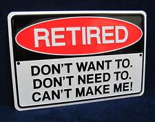 RETIRED - *US MADE* Embossed Metal Tin Warning Sign - Man Cave Garage Bar Rec Rm