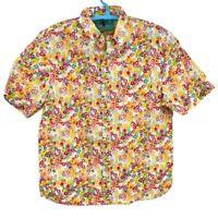 Chubbies Mens Short Sleeve Shirt The Tooty Fruity Nutter Button Up XL New
