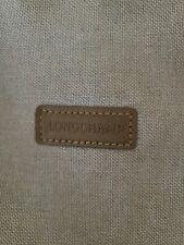 LONGCHAMP Beige Canvas&Leather Medium Tote Shoulder Bag