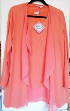 Michele Hope Jersey Cardigan & Top Set Chiffon Trim Clementine 18/20 new tags