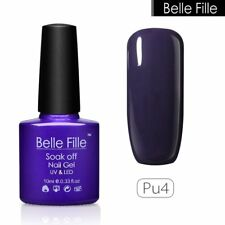 BELLE FILLE Gel Nail Polish 72 Colors Set Gel Soak Off UV/LED Top Coat Base Coat