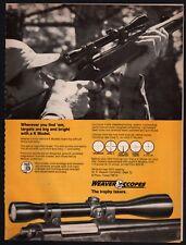 1970 WEAVER K Models Rifle Rifle Scope Vintage PRINT AD