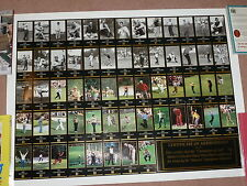CHAMPIONSHIP OF GOLF MASTERS COLLECTION UNCUT PRESS SHEET 1934-1996