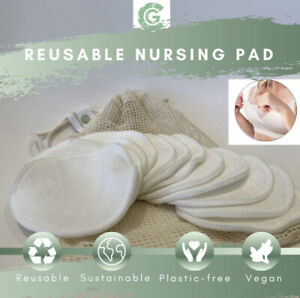 12 x Premium Washable Reusable Breast Pads Bamboo Nursing Pad For Breastfeeding