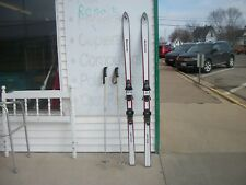 1970 s BLIZZARD SLALOM skis  down hill 182 CM LOOK bindings BARRECRAFTER POLES