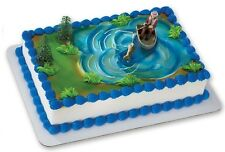 Fisherman Fishing Boat Pole Grooms Cake Decorations Birthday Party Topper K