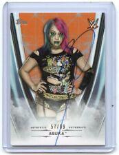 2020 Topps WWE Undisputed ASUKA On Card AUTOGRAPH AUTO ORANGE 57/99