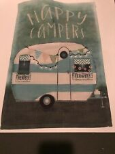 "Happy Campers Banner 12"" By  18"""