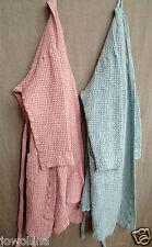 Waffelpique Robe De Chambre Peignoir Sauna Manteau rose taille S/M Stonewashed Lin