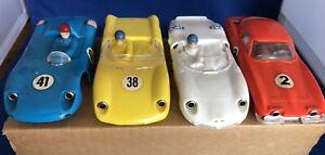 Eldon Slot Cars Set of 4 In Original Shipping Box