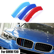 3Pcs/Set New ABS Front Grille Cover Decoration Trim Strips For BMW X3/X4 F25/F26