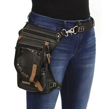 Milwaukee Leather Conceal & Carry Black Leather Thigh Bag w/ Waist Belt **MP8890