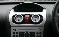 Corsa C Heater vent 52mm  black gauge pod panel adapter.Twin pack