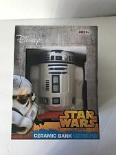 STAR WARS R2-D2 COLLECTORS CERAMIC COIN PIGGY BANK DISNEY
